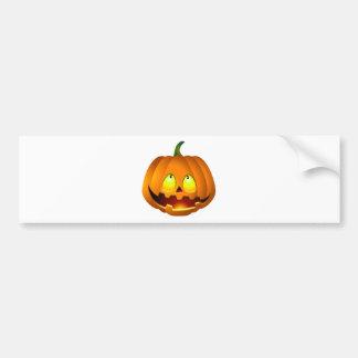 Halloween Pumpkin Nice Bumper Sticker