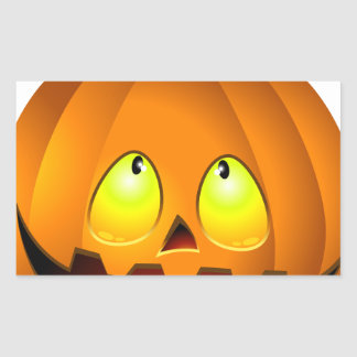 Halloween Pumpkin Nice Rectangular Sticker