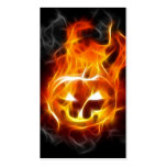 Halloween Pumpkin on Fire Double-Sided Standard Business Cards (Pack Of 100)