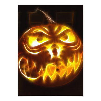 Halloween Pumpkin on Flames Card