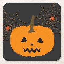Halloween Pumpkin Paper Coaster