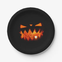Halloween Pumpkin Paper Plate