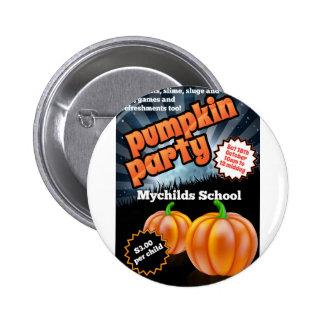 Halloween Pumpkin Party Flier Button