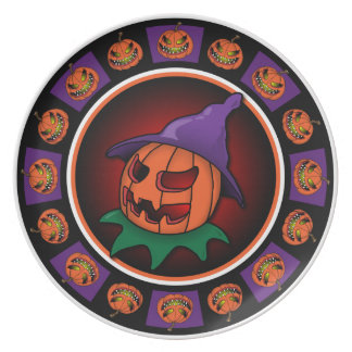 Halloween Pumpkin Party Plate-1 Plate