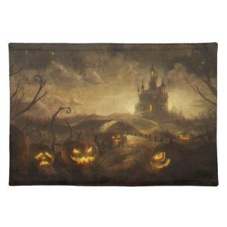 Halloween Pumpkin Patch Cloth Placemat