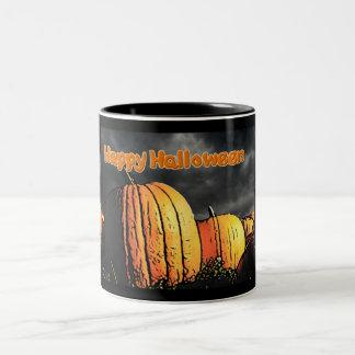 Halloween Pumpkin Patch Two-Tone Coffee Mug