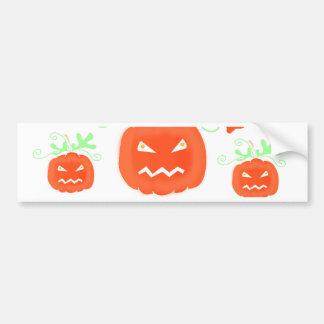 Halloween pumpkin pattern 2 bumper sticker