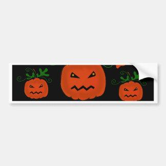 Halloween pumpkin pattern bumper sticker