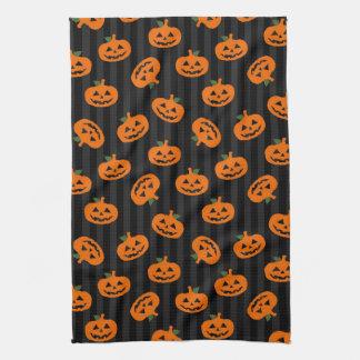 Halloween Pumpkin Pattern Kitchen Towel