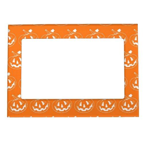 Halloween Pumpkin pattern Magnetic Frames