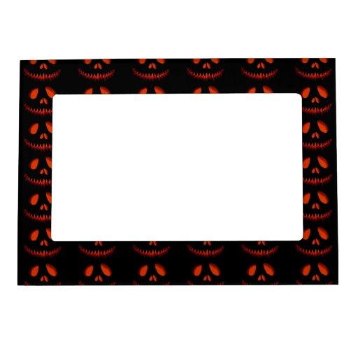 Halloween Pumpkin Pattern Frame Magnets