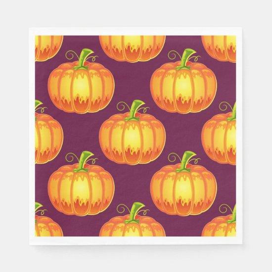 Halloween Pumpkin Pattern Paper Napkin