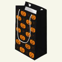 Halloween Pumpkin Pattern Small Gift Bag