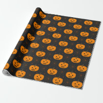 Halloween Pumpkin Pattern Wrapping Paper