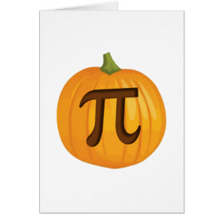 Halloween Pumpkin Pie Pi Greeting Card
