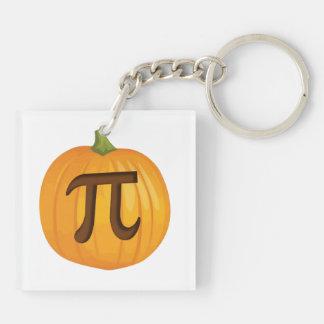 Halloween Pumpkin Pie Pi Acrylic Keychain