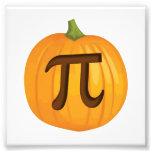 Halloween Pumpkin Pie Pi Photo Print