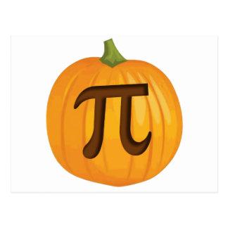 Halloween Pumpkin Pie Pi Postcard