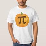Halloween Pumpkin Pie Pi Tshirts