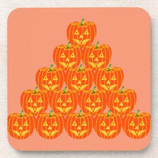 Halloween Pumpkin Plastic Coasters