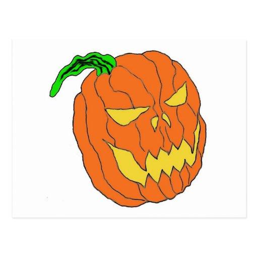 Halloween Pumpkin Postcard