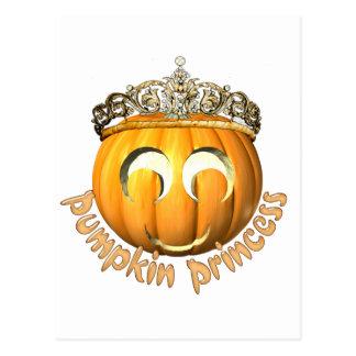 Halloween Pumpkin Princess Postcard