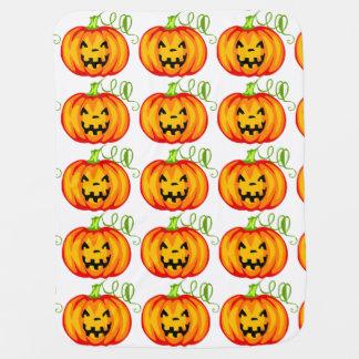 Halloween Pumpkin Receiving Blanket