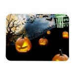 Halloween Pumpkin Rectangular Photo Magnet