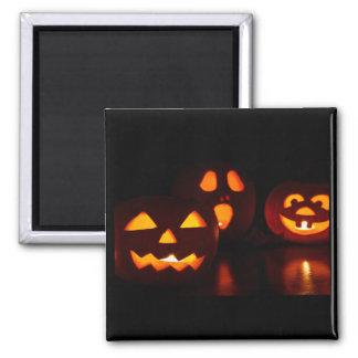 Halloween Pumpkin Scare 2 Inch Square Magnet