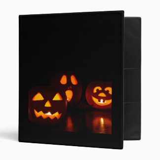Halloween Pumpkin Scare 3 Ring Binder