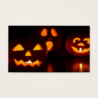 Halloween Pumpkin Scare Business Card