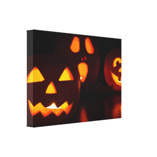 Halloween Pumpkin Scare Gallery Wrapped Canvas