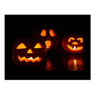Halloween Pumpkin Scare Post Cards