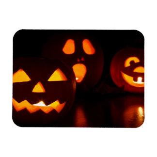 Halloween Pumpkin Scare Rectangular Photo Magnet