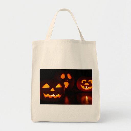 Halloween Pumpkin Scare Tote Bags