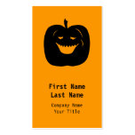 Halloween Pumpkin Silhouette. Black. Double-Sided Standard Business Cards (Pack Of 100)