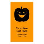 Halloween Pumpkin Silhouette. Black. Business Cards