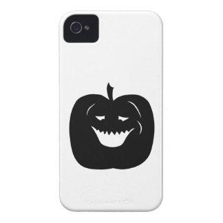 Halloween Pumpkin Silhouette. Black. iPhone 4 Case-Mate Cases
