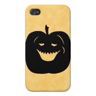 Halloween Pumpkin Silhouette. Black. iPhone 4 Covers