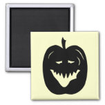 Halloween Pumpkin Silhouette. Black. Refrigerator Magnets