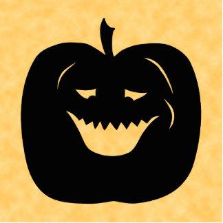 Halloween Pumpkin Silhouette Black Acrylic Cut Out