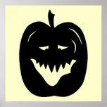 Halloween Pumpkin Silhouette. Black. Poster