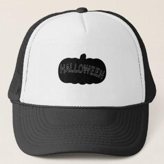 Halloween Pumpkin Silhouette Trucker Hat