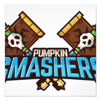 Halloween Pumpkin Smashers Squad Magnetic Card