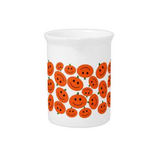 Halloween Pumpkin Smiley Beverage Pitcher