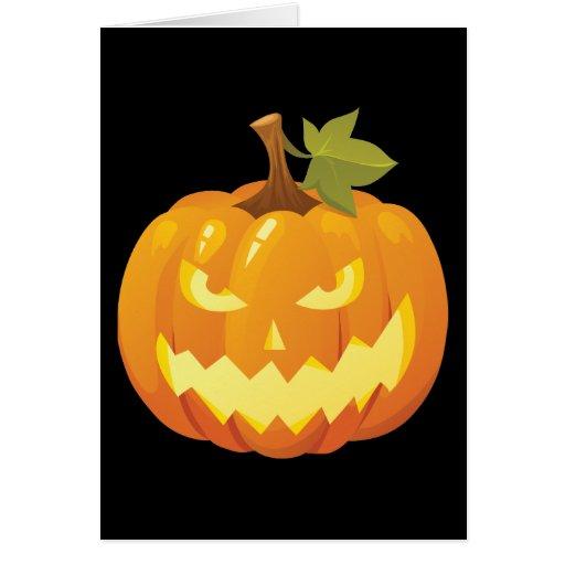 Halloween Pumpkin Smiley Card