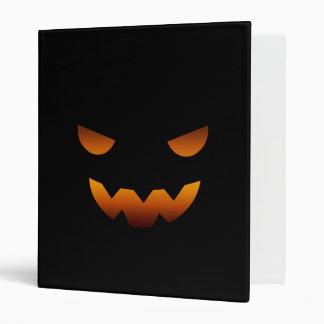 Halloween pumpkin smiley face binder