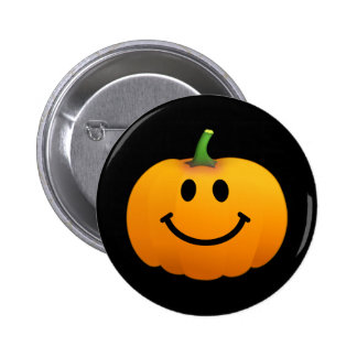 Halloween Pumpkin Smiley face Pinback Buttons