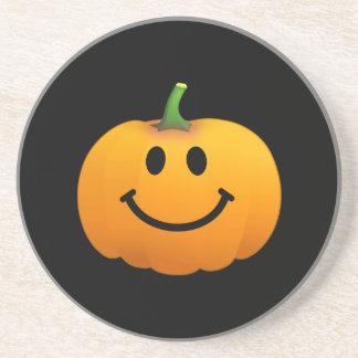 Halloween Pumpkin Smiley face Drink Coasters