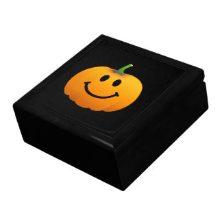 Halloween Pumpkin Smiley face Keepsake Boxes